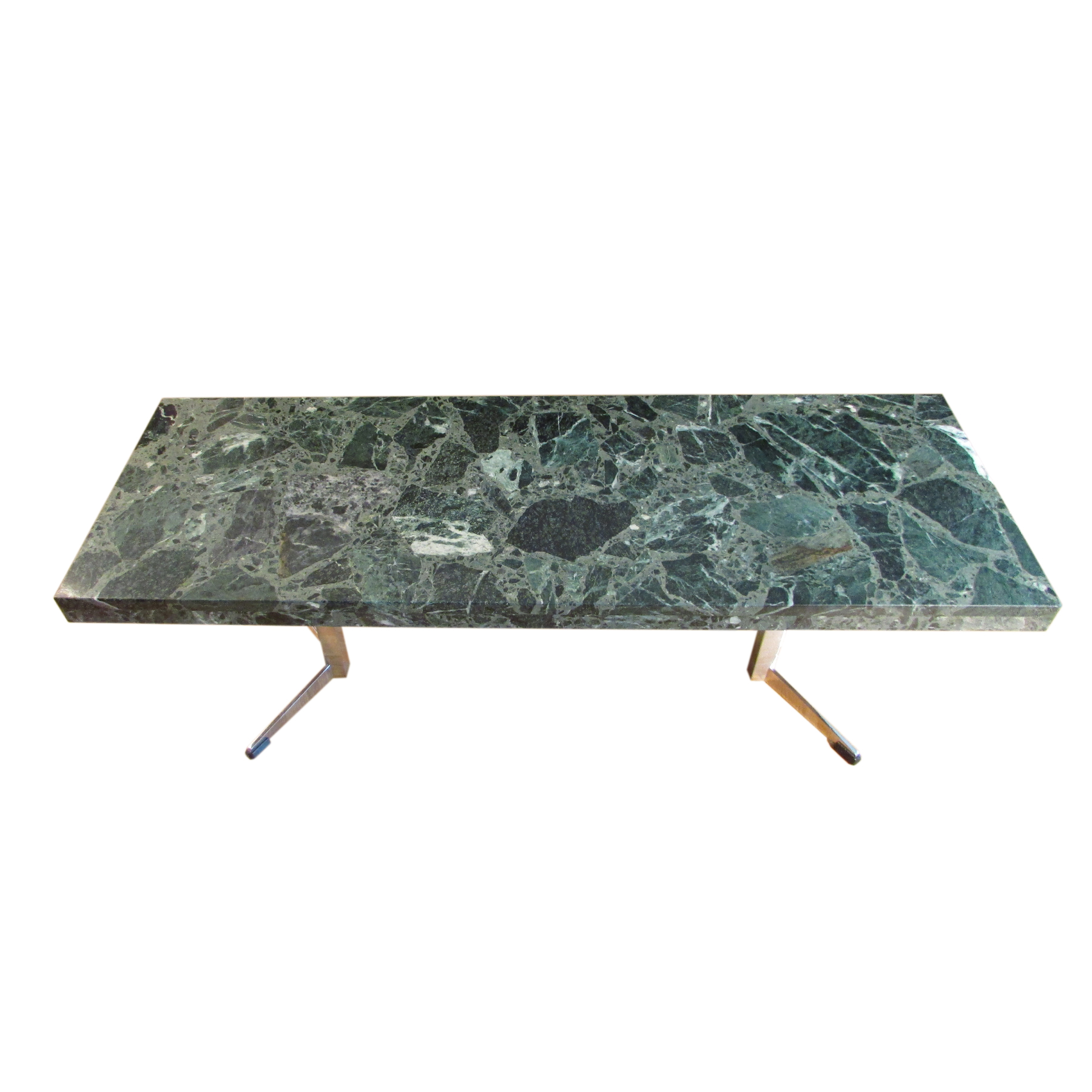 Green Marble Coffee Table Artichoke Vintage Furniture